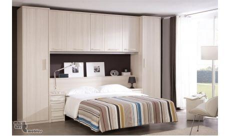 Dormitorio de matrimonio tipo puente fun f427 for Modelo closet para habitaciones