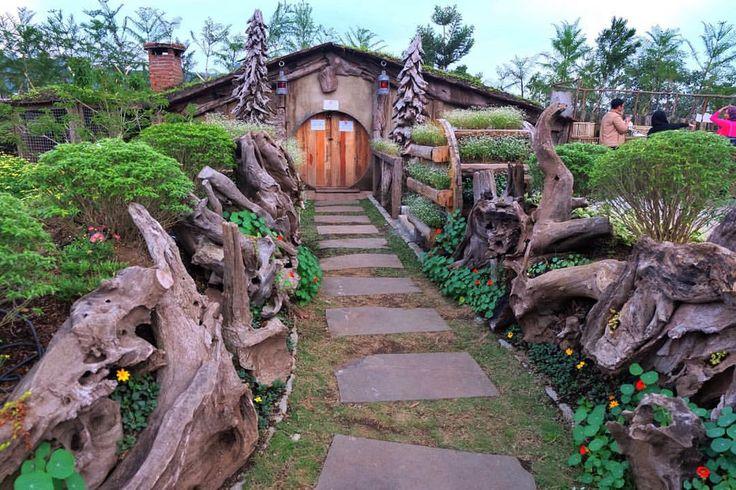 Hobbiton house in Bandung farmhouse, Indonesia