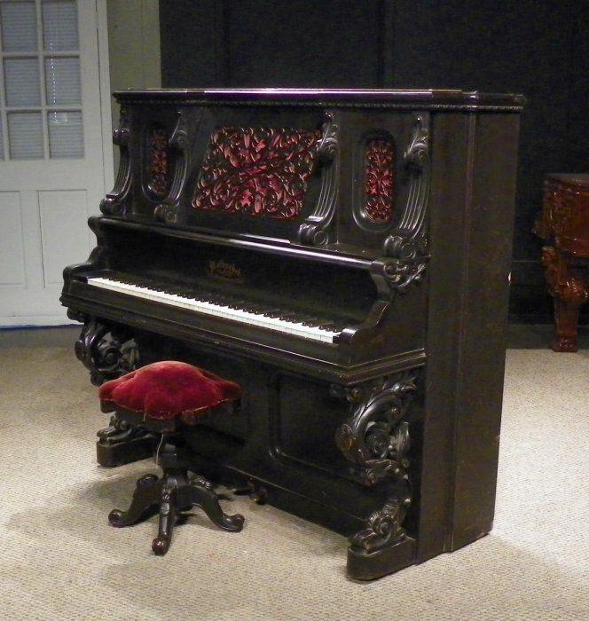 Mathushek Victorian Upright Piano | The Antique Piano Shop