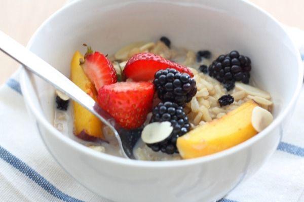 a meandering mango: brown rice porridge