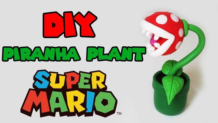 DIY: Como fazer a Piranha Plant de Super Mario Bros - Polymer Tutorial
