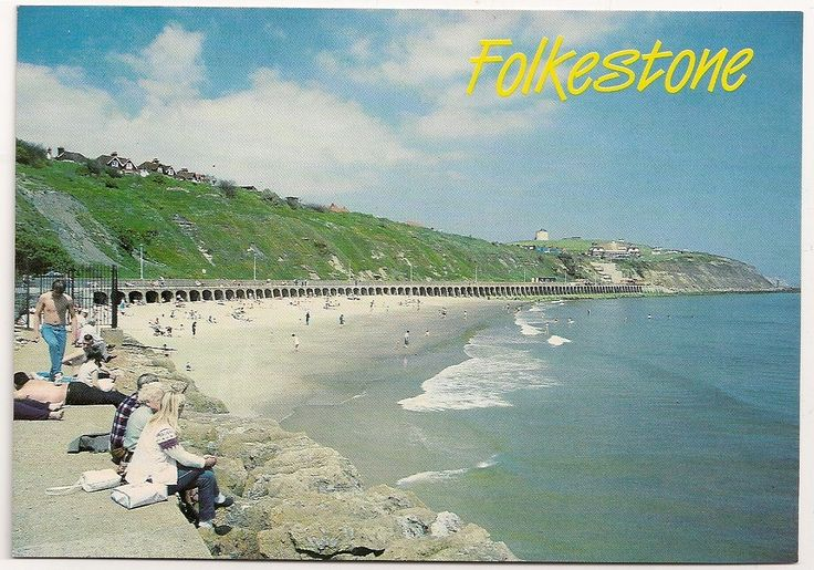 Postcard of FOLKESTONE, Kent - The Beach & East Cliff | eBay