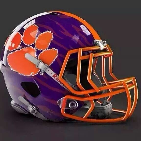This would be an AWESOME helmet for the Clemson Tigers football team!!