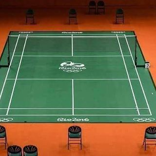Riocentro4 the stage for badminton at #rio2016 looks like this . This isn't amazing?
