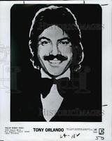 1979 Press Photo Tony Orlando, Pop Music, Wind, Tony Orlando And Dawn