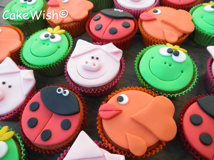 Dierenmix cupcake's