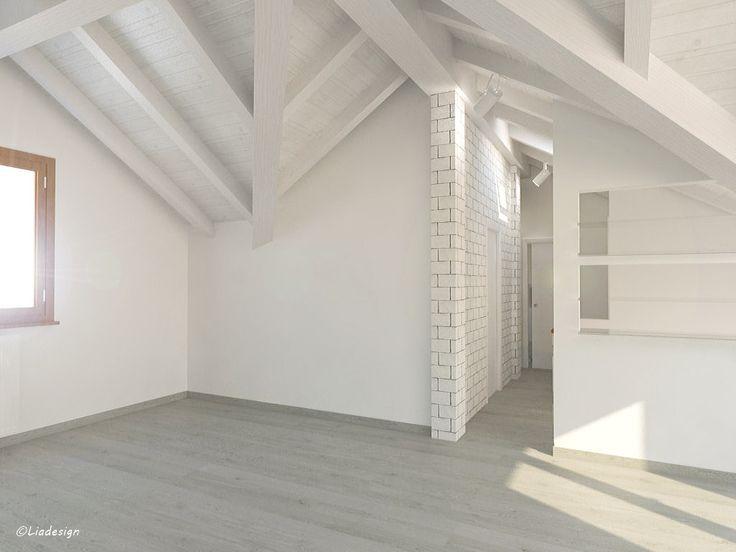 Progetto di ampliamento di una mansarda - Studio finiture ed illuminazione