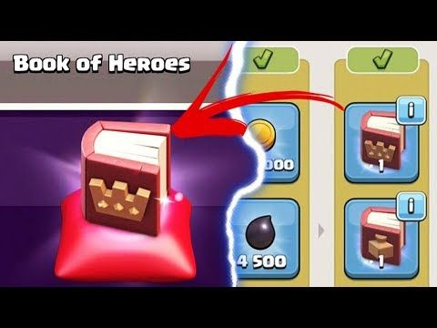 How to unlock the Book of Heroes in Clash of Clans. It's the best magic item in the game. CoC christmas update. NEW CHANNEL:  Follow me on Twitter: Tweets by CamaroBroGaming Follow me on Instagram: https://www.instagram.com/christopherryan98/?hl=en This content is not affiliated with,...