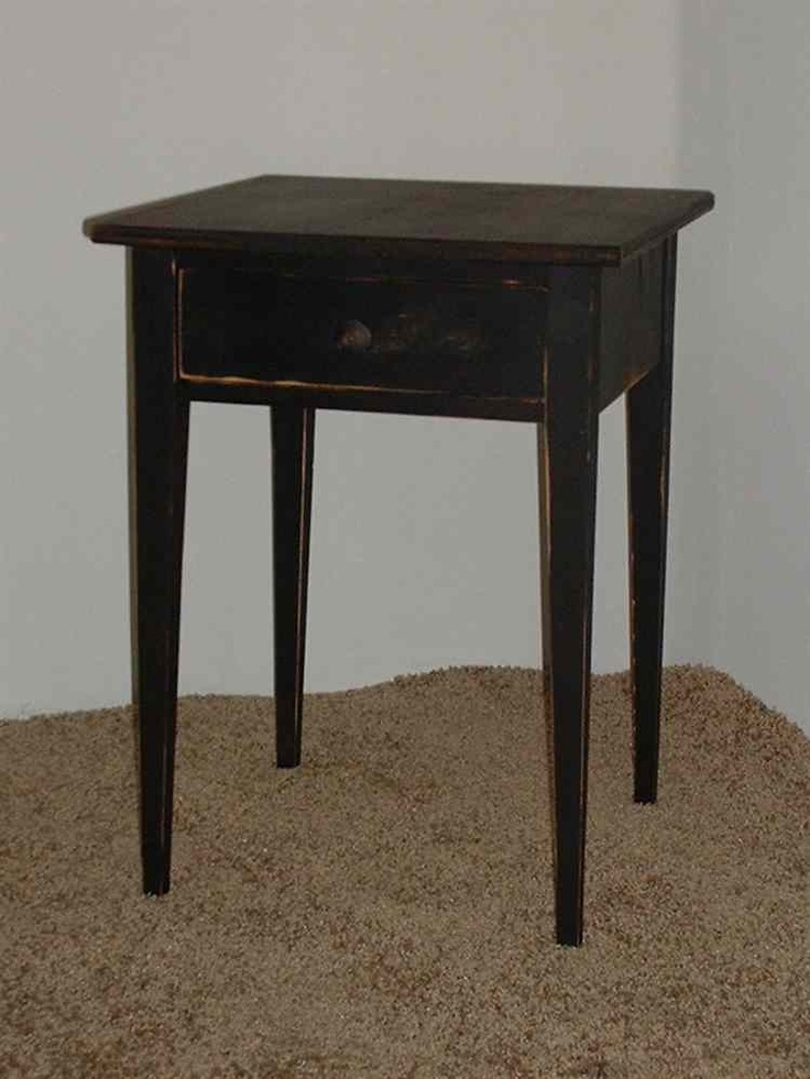 Handmade Primitive Shaker End Table Color Choice