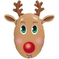 Rudolph Foil Balloon $22.95 (Inflated) Q40077