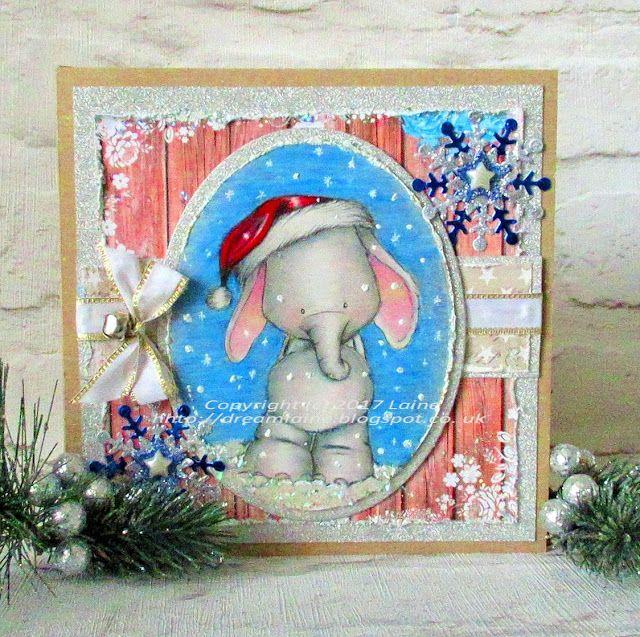 Dream Laine: Elephant Christmas!   #pencil #fabercastell #polychromos  #prismacolor #christmas #illustration #elephant  #handmade