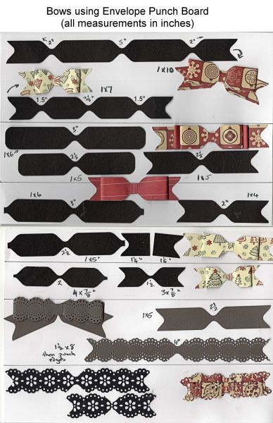 Making bows on Envelope Punch Board - chart