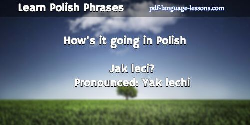 Learn Polish Language - How are you in Polish