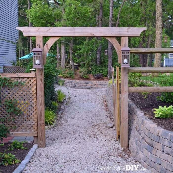 you can build this diy garden arbor thanks to plans from the family handyman it 39 s big but not. Black Bedroom Furniture Sets. Home Design Ideas