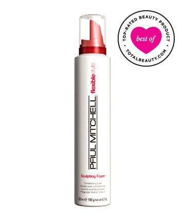 No. 1: Paul Mitchell Sculpting Foam, $12.99 - controls frizz without leaving your hair crunchy.  Great for a nice, soft curl lasting all day.