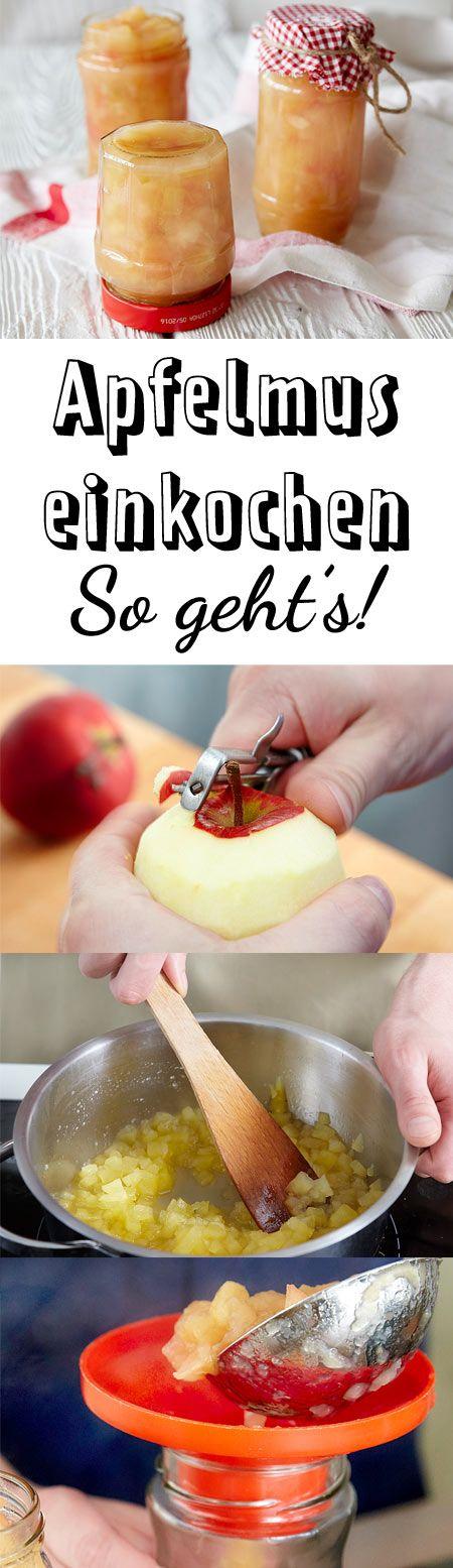 Mit dieser Anleitung ist Apfelmus einkochen gar nicht schwer!