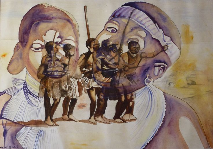 """We hunt for our village"" by Dumisani Sibisi 