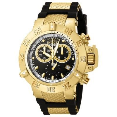 Relógio Invicta Men's 5514 Subaqua Collection Gold-Tone Chronograph Watch #Relógio #Invicta