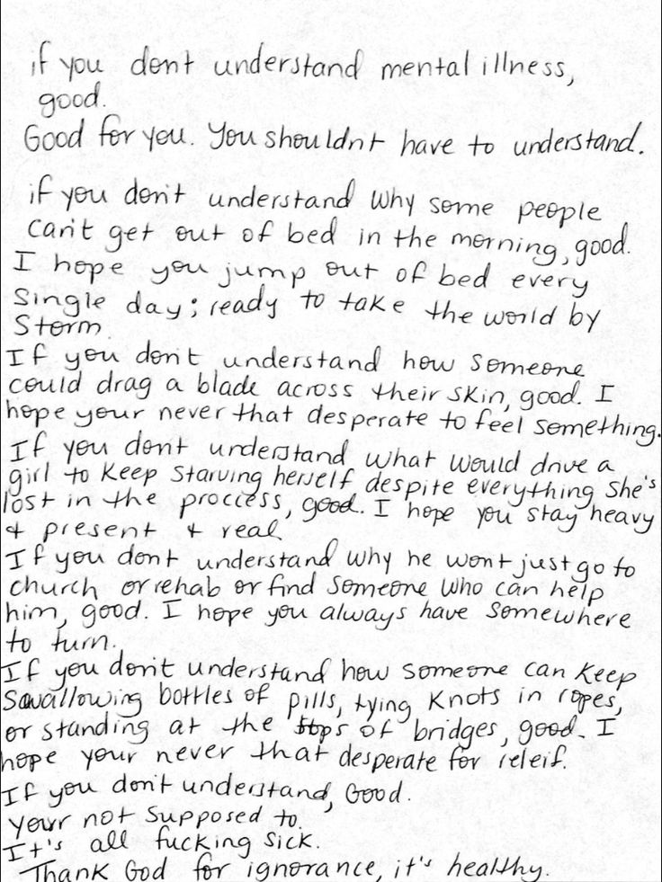 If you don't understand... selfharm, anorexia, bulimia, depression, suicide quotes, mental illness