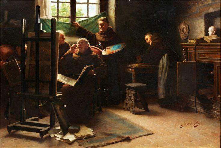 Giovanni Battista Torriglia - Mönche an der Staffelei