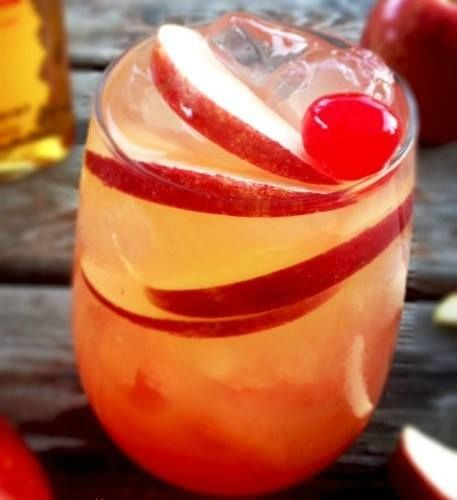 Fireball Cider Cocktail Recipe:  Ingredients:  Ice Cubes (approximately 4 or 5 ice cubes) 2 ounces Fireball Cinnamon Whiskey 3 ounces apple cider Apple slices * Can substitute another brand of cinnamon whiskey if desired.  Preparation: Fill a glass (highball glass or white wine glass) 1/4 full with ice cubes (you want to chill the drink and not water it down). Pour in the Fireball Cinnamon Whiskey and then top with apple cider. Stir gently until mixed. Garnish with apple slices Makes 1…