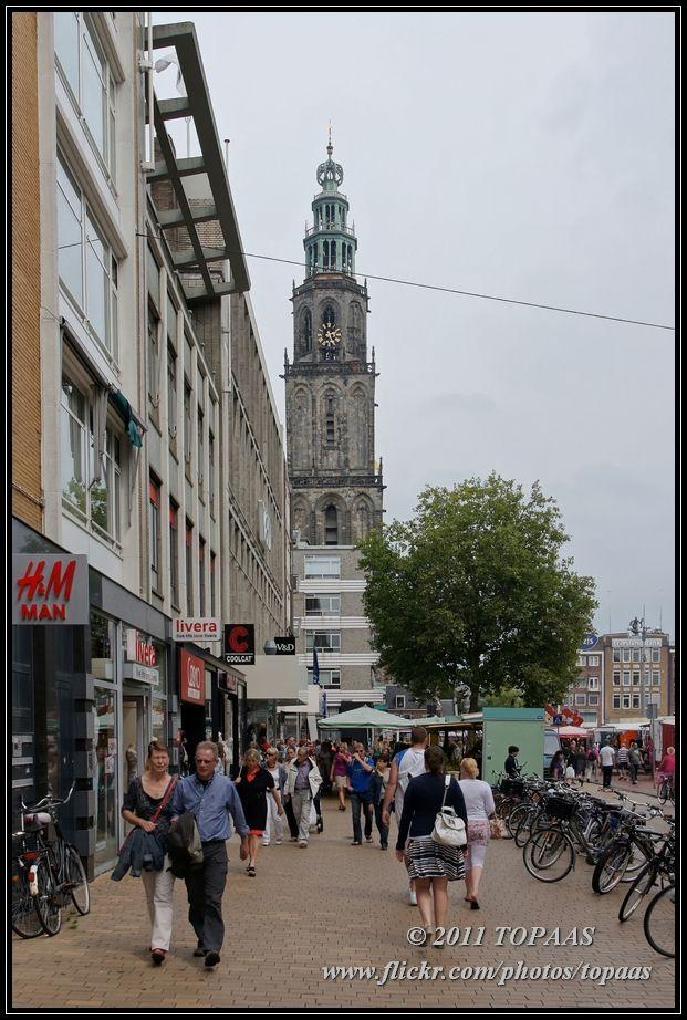 Martinitoren. Grote Markt, Groningen. The Netherlands.