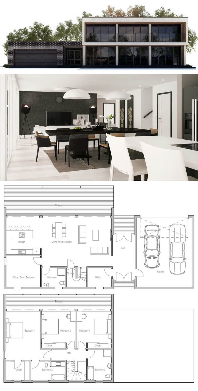 9 best 평면도 images on Pinterest   House blueprints, House template ...
