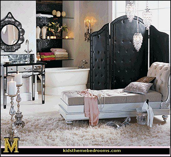 Nice Black Screen Decorating Theme Bedrooms Maries Manor Hollywood At Home Glam Style Vintage Old