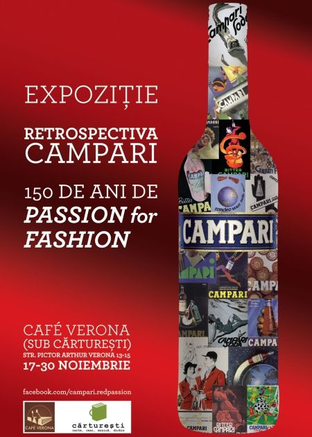 Campari exhibition at Carturesti. 150 years of passion. 150 years of art works for one of the most fashionable brands. (November 2010-January 2011). One of my favorite projects for my past client Cristalex (beverages, ex Gruppo Campari partner in Romania)