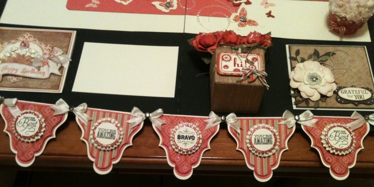 banner made with Close to my heart artiste cartridge Tamra's Crafty Paper Creations