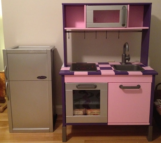 Ikea hackers duktig kitchen goes from bland to bling Realistic play kitchen