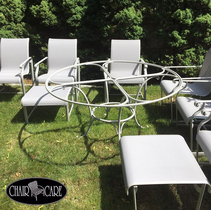 Outdoor furniture fabric sling replacement and metal frame