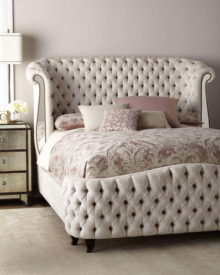 Beautiful Haute House Bridgitte Queen Bed.  Sink into the luxury.  #affiliate  #cottagestyle #shabbychic