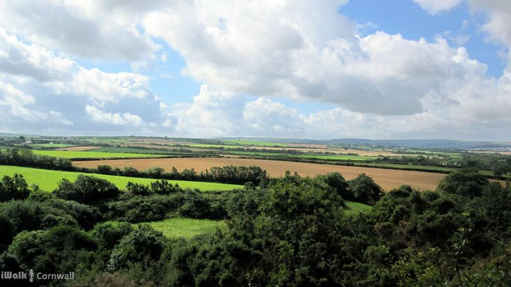 View from near St Kew towards Wadebridge, Cornwall