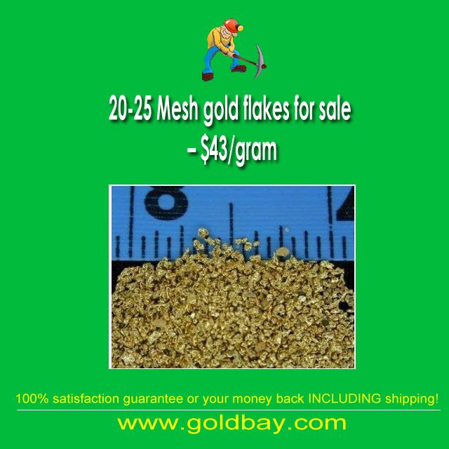 20-25 Mesh gold flakes for sale – $43/gram  #20-25 mesh gold flakes for sale for $45 per gram. Enquire about wholesale or bulk quantities starting at just 15 grams and you can mix and match sizes  #mining #goldpanning #gems #gemstones #minerals #rockhounding #rockcollecting #buriedtreasure #treasure #metaldetecting #minelab #dredge #sluice #preciousmetal #fossils #geologist #geology #geologyrocks #mineralspecimen #panningforgold #mineralogy #mineralporn #goldbay #goldbaypawn