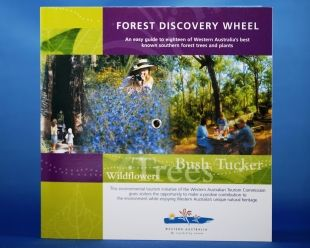 Forest Discovery Wheel. Great way to learn about the environment along the Track.