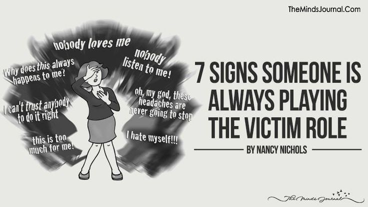 playing the victim in a relationship
