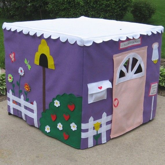 Card Table Playhouse - Make one to fit the kitchen or diningroom table, so you don't have to pull out a card table to play.