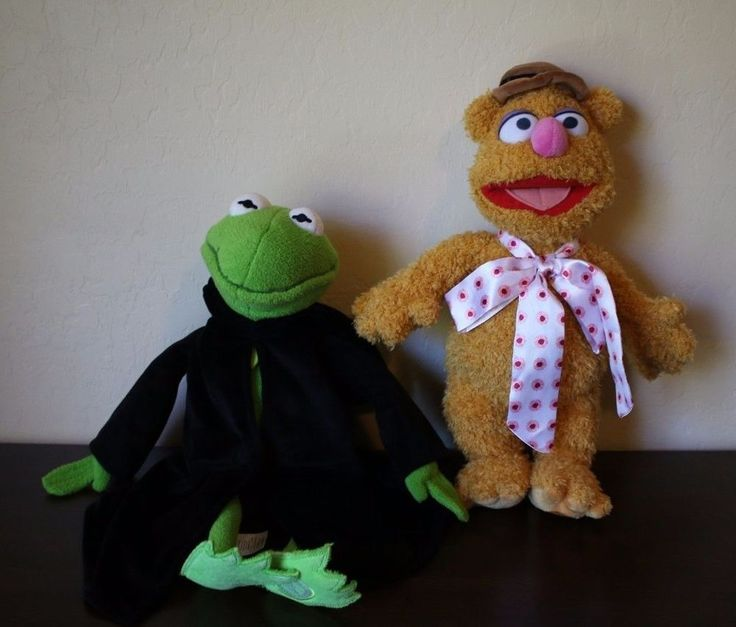 Disney Muppets Most Wanted Constantine Kermit & Fozzy Bear Plush Stuffed Animal #Disney