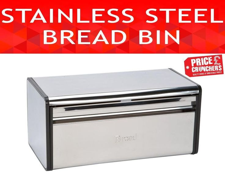 Vintage Silver Bread Bin Kitchen Food Storage Container Fresh Bread Keeper Box  #HIGHLANDS #Contemporary