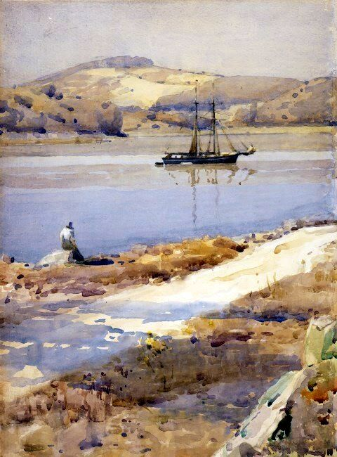 James Paterson - Kippford Waiting For The Tide 1913 - James Paterson (painter) - Wikipedia, the free encyclopedia