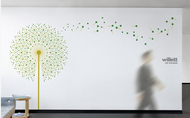 Willett Marketing | Wall art for the Willett offices #branding