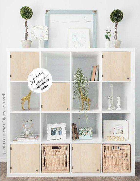 Easy No Tools Door For Cube Shelves Minimalist Etsy Cube Shelves Kallax Kallax Ikea