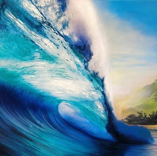 Wave painting idea