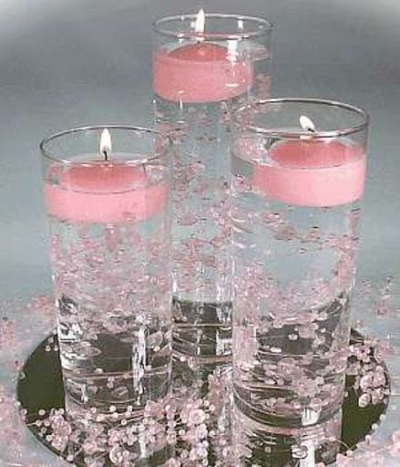 wedding candles centerpieces