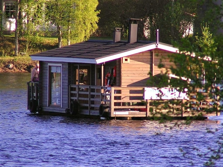River Sauna in Kemijoki. Photo by Erkki Kuure