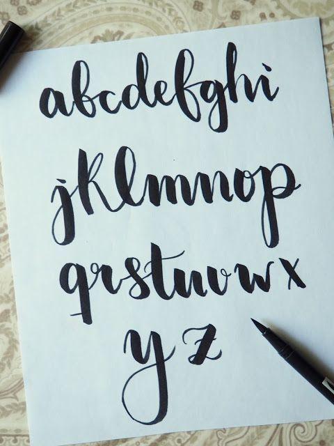 Practiquemos Lettering!! Mis 3 estilos de letra más usados. - The Flower Journal