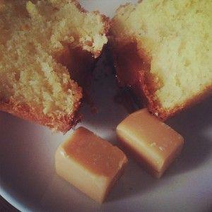 muffins, cœurs coulants au caramel Hema