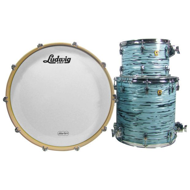 Ludwig USA LK7243KXTQ Turquoister 3-Pc Shell sculpts focus and articulation for the drummer seeking volume, attack, and power #Ludwig #drums #drummers #sound #summer #sale #deals