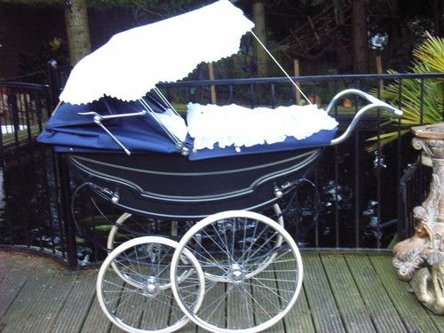 """PRAM WITH CANOPY - REMEMBER PUSHING """"GAIL"""" IN ONE OF THESE :)"""